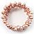 3 Strand Lilac Freshwater Pearl Wrap Bangle Bracelet (6mm) - view 2