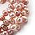 3 Strand Lilac Freshwater Pearl Wrap Bangle Bracelet (6mm) - view 3