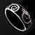 Black Crystal Enamel Swirl Bangle Bracelet - view 5