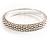 Stylish Metal Mesh Bangle Bracelet (Silver Tone)
