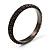 Stylish Metal Mesh Bangle Bracelet (Black Tone)