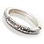 Silver Tone Vintage Inspired Hinged Bangle Bracelet - view 4