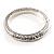 Silver Tone Vintage Inspired Hinged Bangle Bracelet - view 2