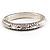 Silver Tone Vintage Inspired Hinged Bangle Bracelet - view 6