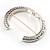 Silver Tone Vintage Inspired Hinged Bangle Bracelet - view 8