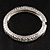 Silver Tone Vintage Inspired Hinged Bangle Bracelet - view 10