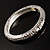 Silver Tone Vintage Inspired Hinged Bangle Bracelet - view 3