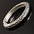 Silver Tone Vintage Inspired Hinged Bangle Bracelet - view 9