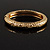 Antique Gold Vintage Inspired Hinged Bangle Bracelet - view 9