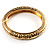 Antique Gold Vintage Inspired Hinged Bangle Bracelet - view 2