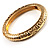 Antique Gold Vintage Inspired Hinged Bangle Bracelet