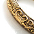 Antique Gold Vintage Inspired Hinged Bangle Bracelet - view 3
