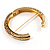 Antique Gold Vintage Inspired Hinged Bangle Bracelet - view 6