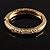 Antique Gold Vintage Inspired Hinged Bangle Bracelet - view 5