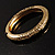 Antique Gold Vintage Inspired Hinged Bangle Bracelet - view 7