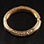 Antique Gold Vintage Inspired Hinged Bangle Bracelet - view 4