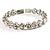 Stunning Bridal Clear Crystal Flex Bangle Bracelet (Silver Tone) - view 9