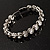 Stunning Bridal Clear Crystal Flex Bangle Bracelet (Silver Tone) - view 8