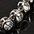 Stunning Bridal Clear Crystal Flex Bangle Bracelet (Silver Tone) - view 4
