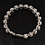 Stunning Bridal Clear Crystal Flex Bangle Bracelet (Silver Tone) - view 5