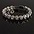 Stunning Bridal Clear Crystal Flex Bangle Bracelet (Silver Tone) - view 7