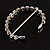 Stunning Bridal Clear Crystal Flex Bangle Bracelet (Silver Tone) - view 6