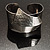 Hammered Stainless Steel Tribal Sail Cuff-Bangle - view 8