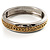 Two Tone Pattern Bangle Bracelet - view 3