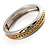 Two Tone Pattern Bangle Bracelet - view 8