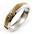 Two Tone Pattern Bangle Bracelet - view 7