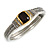 Two Tone Vintage Rope Style Hinged Bangle Bracelet - view 3
