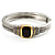Two Tone Vintage Rope Style Hinged Bangle Bracelet - view 2