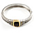 Two Tone Vintage Rope Style Hinged Bangle Bracelet - view 7