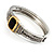Two Tone Vintage Rope Style Hinged Bangle Bracelet - view 8