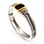 Two Tone Vintage Rope Style Hinged Bangle Bracelet - view 9