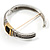 Two Tone Vintage Rope Style Hinged Bangle Bracelet - view 5