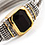 Two Tone Vintage Rope Style Hinged Bangle Bracelet - view 4