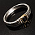 Two Tone Vintage Rope Style Hinged Bangle Bracelet - view 10