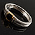 Two Tone Vintage Rope Style Hinged Bangle Bracelet - view 11