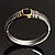 Two Tone Vintage Rope Style Hinged Bangle Bracelet - view 6