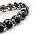 Stunning Black CZ Crystal Flex Bangle Bracelet (Black Tone) - view 2