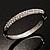 Classic CZ Silver Tone Bangle Bracelet