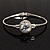 Classic CZ Crystal Bangle Bracelet (Silver&Clear)