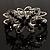 Swarovski Crystal Butterfly Hinged Bangle Bracelet (Silver&Jet Black) - view 6
