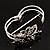Swarovski Crystal Butterfly Hinged Bangle Bracelet (Silver&Jet Black) - view 7