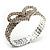 Dazzling Swarovski Crystal Heart Flex Bangle Bracelet (Silver Tone) - view 4