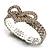 Dazzling Swarovski Crystal Heart Flex Bangle Bracelet (Silver Tone) - view 9