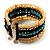 Boho Style Wide Wood&Acrylic Bead Cuff Bracelet - view 3