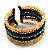 Boho Style Wide Wood&Acrylic Bead Cuff Bracelet - view 9