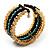 Boho Style Wide Wood&Acrylic Bead Cuff Bracelet - view 5